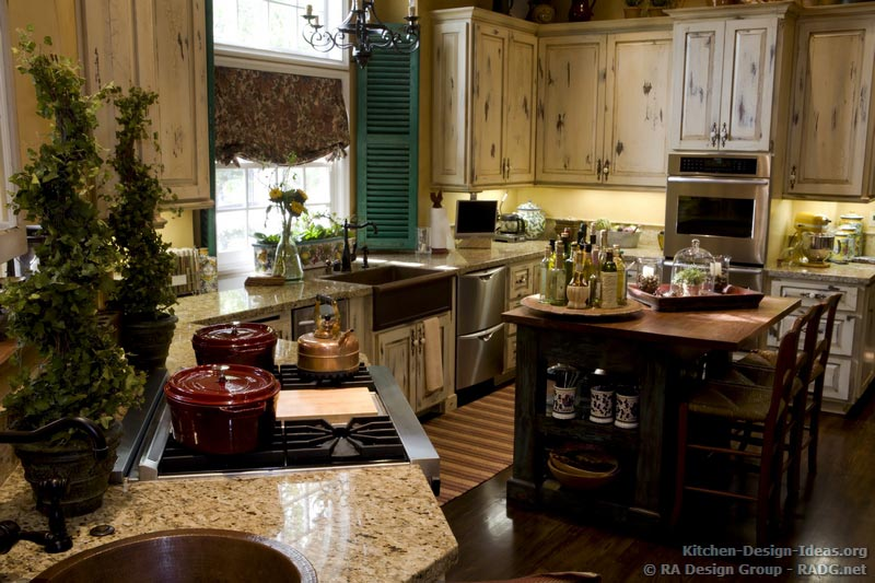 Gallery For Antique White Country Kitchen