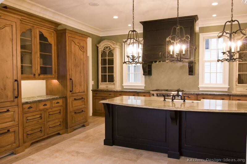 images of kitchen cabinets.  Traditional Two Tone Kitchen Pictures of Kitchens Cabinets