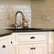 Antique Beige Subway Tile Sink Backsplash