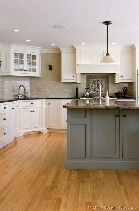 of Kitchens  Traditional  Two Tone Kitchen Cabinets (Kitchen #22