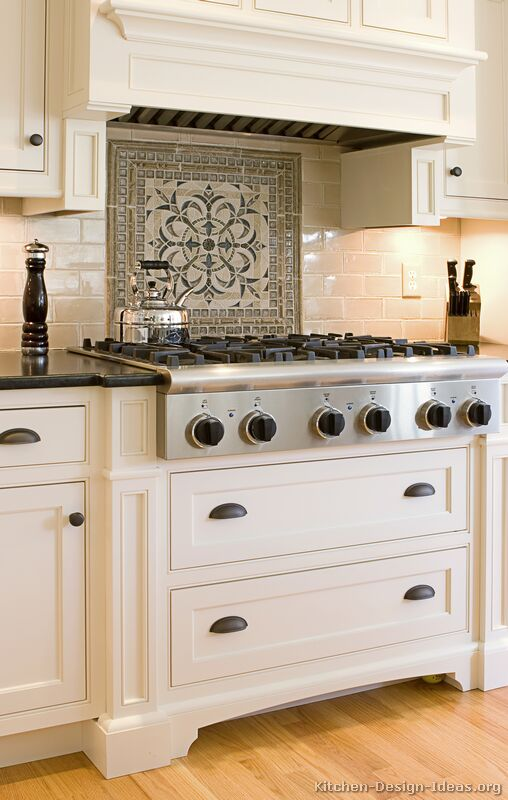 Kitchen backsplash ideas materials designs and pictures - Traditional kitchen tile backsplash ideas ...