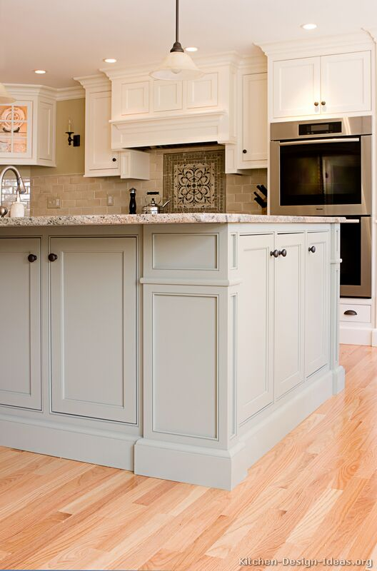 Pictures of kitchens traditional two tone kitchen for Kitchen ideas two tone cabinets