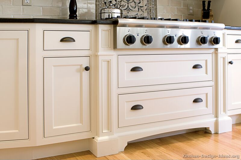 Pictures of kitchens traditional two tone kitchen for Traditional kitchen dresser