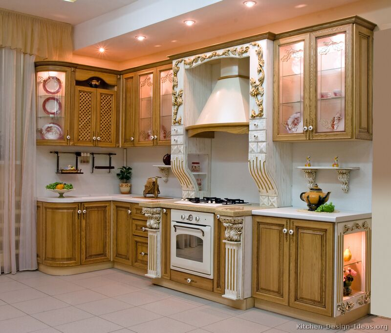 Pictures of kitchens traditional gold kitchen cabinets for India kitchen cabinetry show 2016