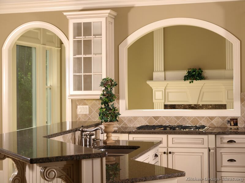 Pictures Of Kitchens Traditional Two Tone Kitchen Cabinets Kitchen 24