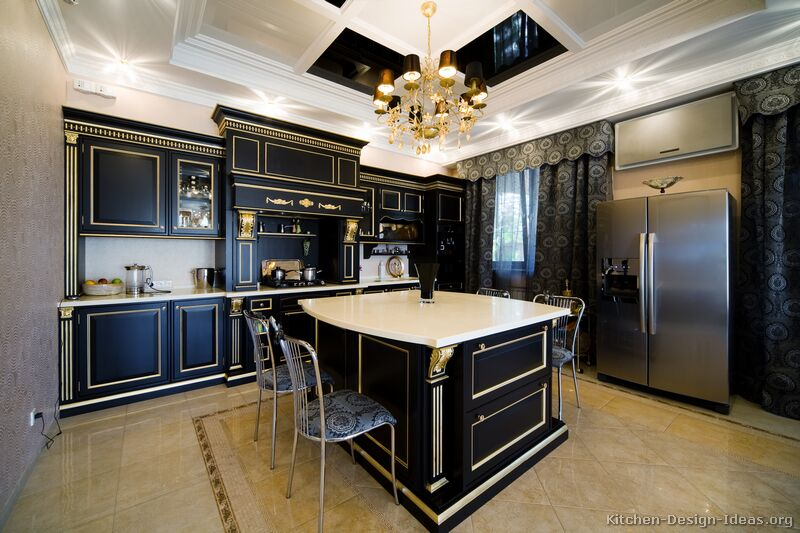 Pictures of kitchens traditional two tone kitchen for Kitchen design examples
