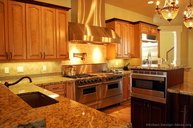 Kitchen Design Ideas Light Cabinets pictures of kitchens - traditional - two-tone kitchen cabinets