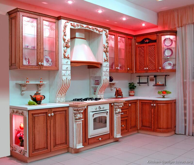 Pictures of kitchens traditional two tone kitchen cabinets for Kitchen cabinets 2 tone