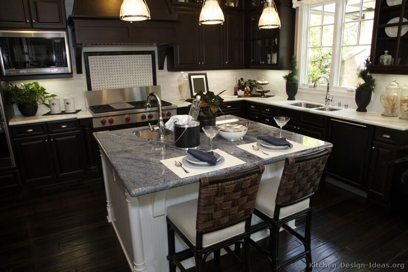 Kitchen Design Ideas Dark Floors black kitchen cabinets design ideas - creditrestore
