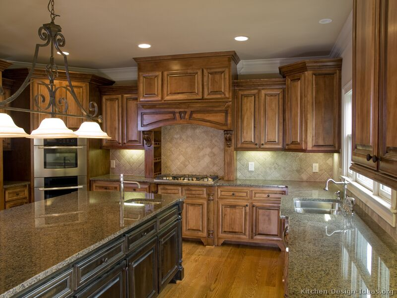 Old world kitchen designs photo gallery Granite kitchen design ideas