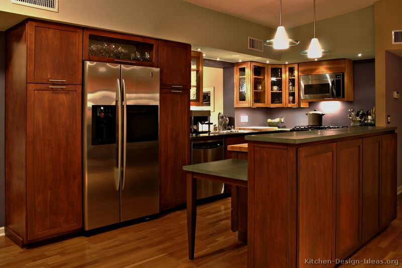 Transitional kitchen design cabinets photos style ideas Wood kitchen design gallery