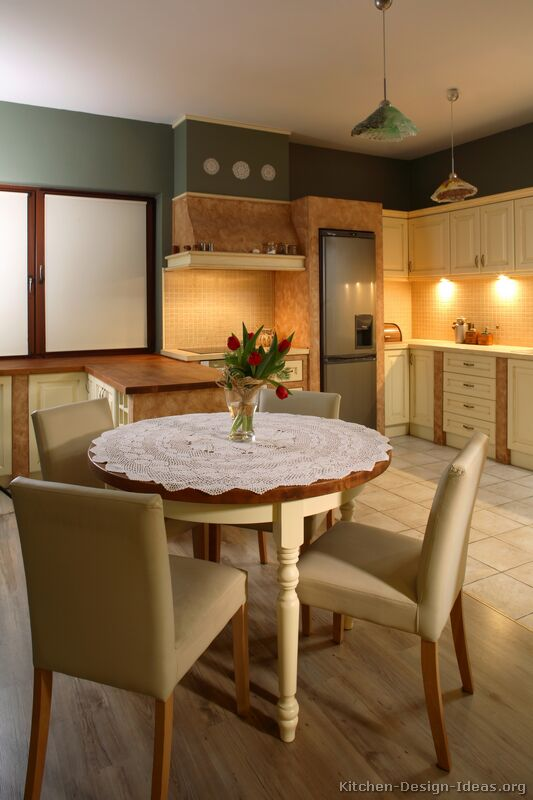 Pictures Of Kitchens Traditional Two Tone Kitchen Cabinets Kitchen 41