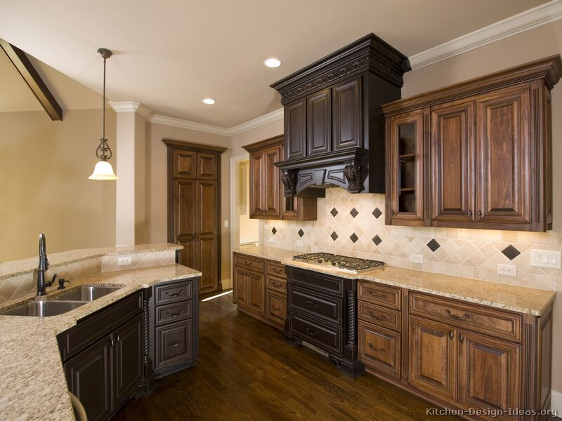 pictures of kitchens traditional two tone kitchen cabinets kitchen 42. Black Bedroom Furniture Sets. Home Design Ideas