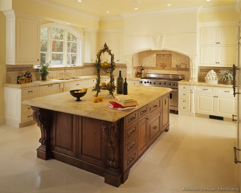 Pictures of kitchens traditional white kitchen cabinets page 7 Kitchen design ideas with island