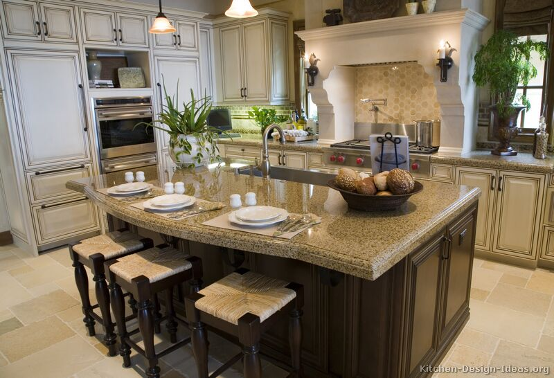 kitchens traditional off white antique kitchen cabinets page 4