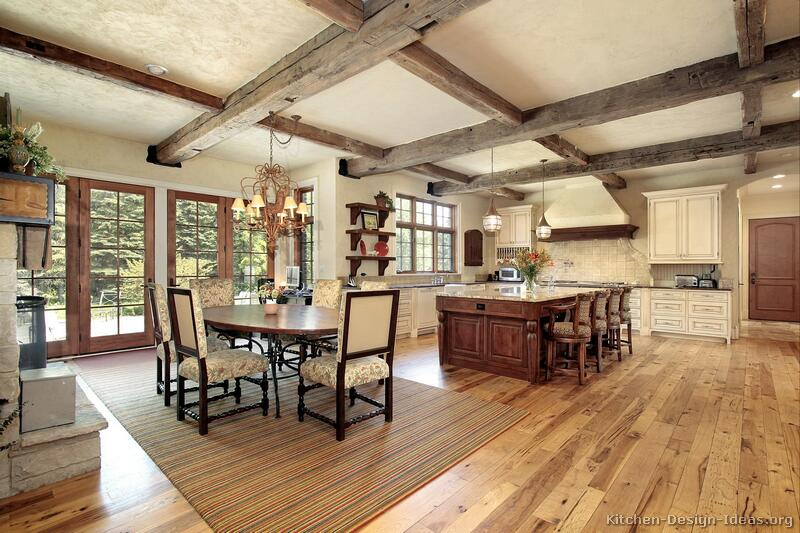 Rustic kitchen designs pictures and inspiration for Rustic kitchen floor ideas