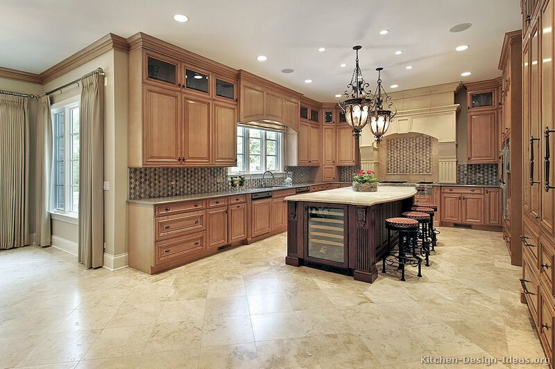 of Kitchens  Traditional  Light Wood Kitchen Cabinets (Page 7