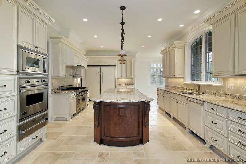 tt87 traditional antique white kitchen - Luxury White Kitchens