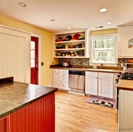 Traditional Red Kitchen