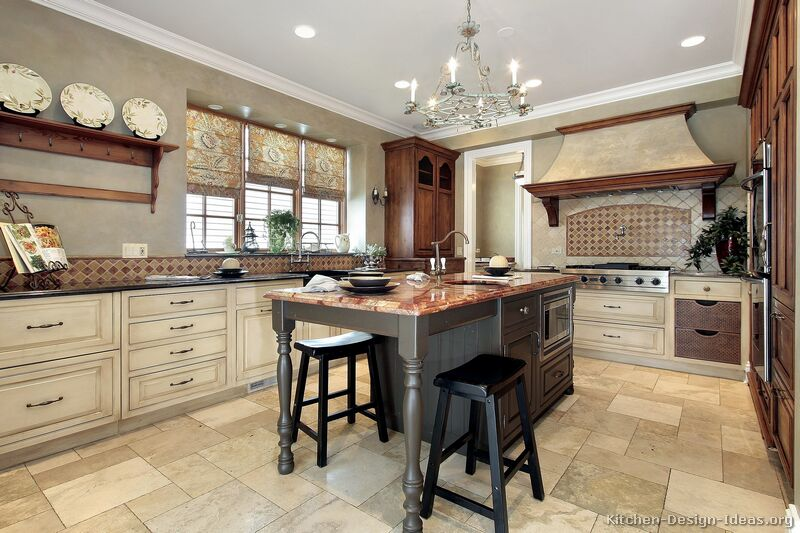 Pictures Of Kitchens Traditional Off White Antique Kitchen Cabinets Page 5