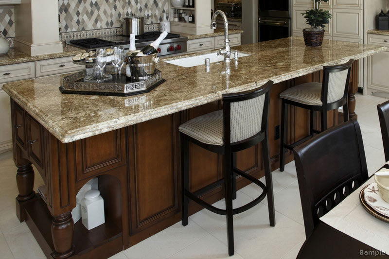 Gourmet Kitchen Island with Seating
