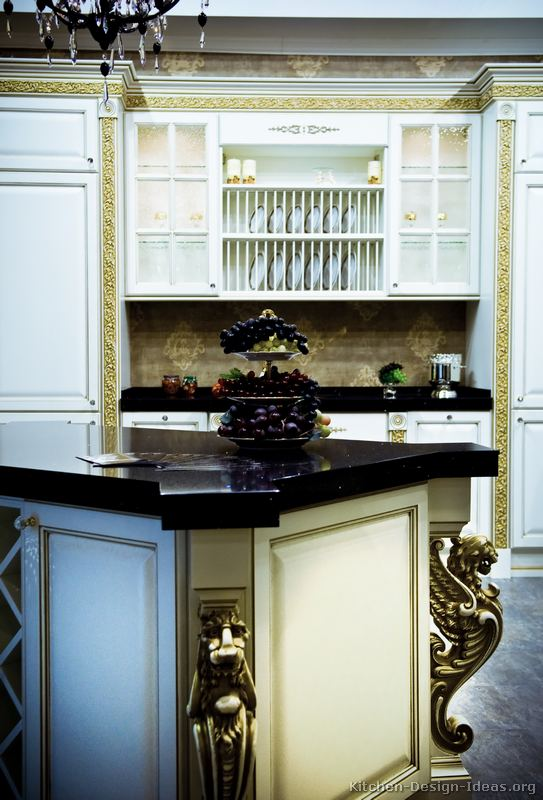of Kitchens  Traditional  Two Tone Kitchen Cabinets (Kitchen #115