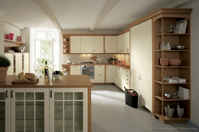 Pictures Of Kitchens Traditional Two Tone Kitchen Cabinets Kitchen 120