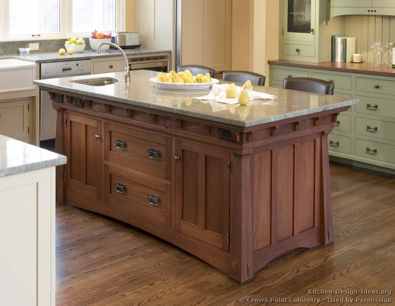 Mission style kitchens designs and photos for Kitchen island cabinet plans