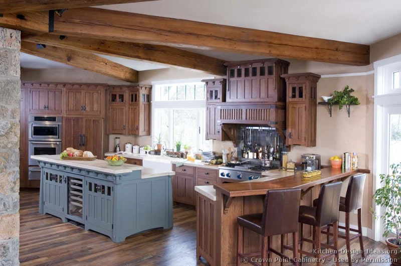 Mission Style Kitchens on craftsman farmhouse house plans