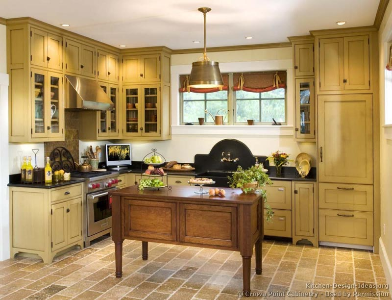 Victorian kitchens cabinets design ideas and pictures for Beige kitchen designs