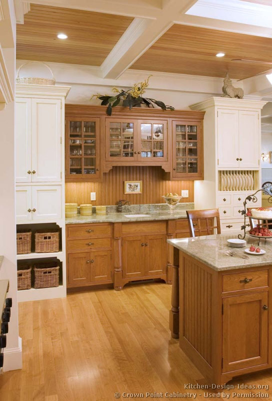 Pictures Of Kitchens Traditional Two Tone Kitchen Cabinets Kitchen 132