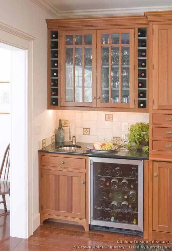 wonderful Wine Cooler For Kitchen Cabinets #5: 05, Traditional Two-Tone Kitchen