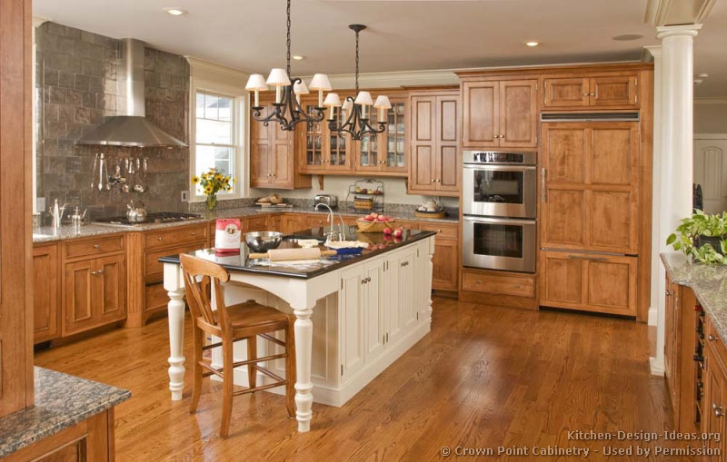 Pictures Of Kitchens Traditional Two Tone Kitchen Cabinets Kitchen 137