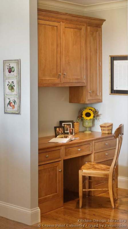 Kitchen Desk Cabinets