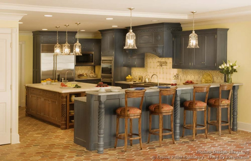 of kitchens traditional two tone kitchen cabinets kitchen 139