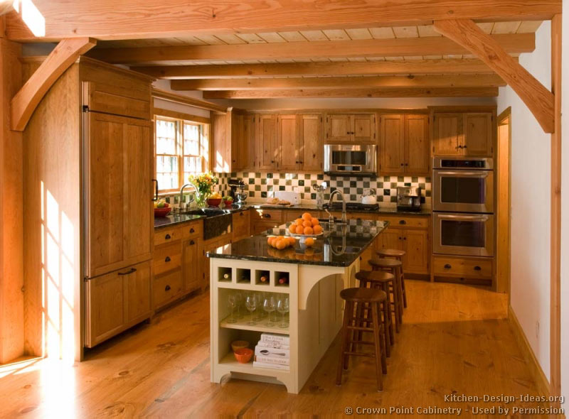Log home kitchens pictures design ideas Wooden house kitchen design