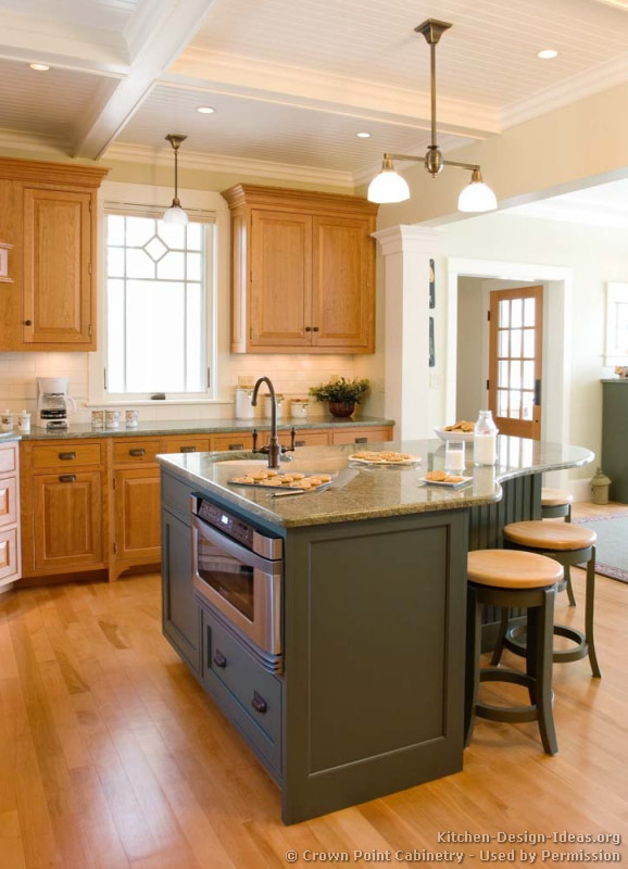 Kitchen Microwave Design Ideas ~ Pictures of kitchens traditional two tone kitchen