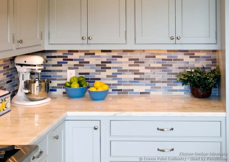 Kitchen Blue Backsplash Ideas Transitional kitchen design