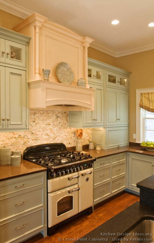 Pictures of kitchens traditional two tone kitchen for Old kitchen ideas