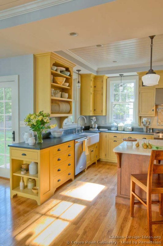 Yellow Kitchen Ideas Pictures Part - 22: Traditional Two-Tone Kitchen
