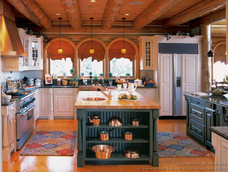 Log Home Kitchens - Pictures & Design Ideas Ideas For Kitchen Cabinets Rustic Cabin on red cabinets for kitchen, contemporary cabinets for kitchen, cherry cabinets for kitchen, kitchen cabinets for kitchen, modern cabinets for kitchen, barn cabinets for kitchen, western cabinets for kitchen,