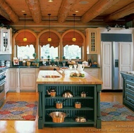 Traditional Green Kitchen