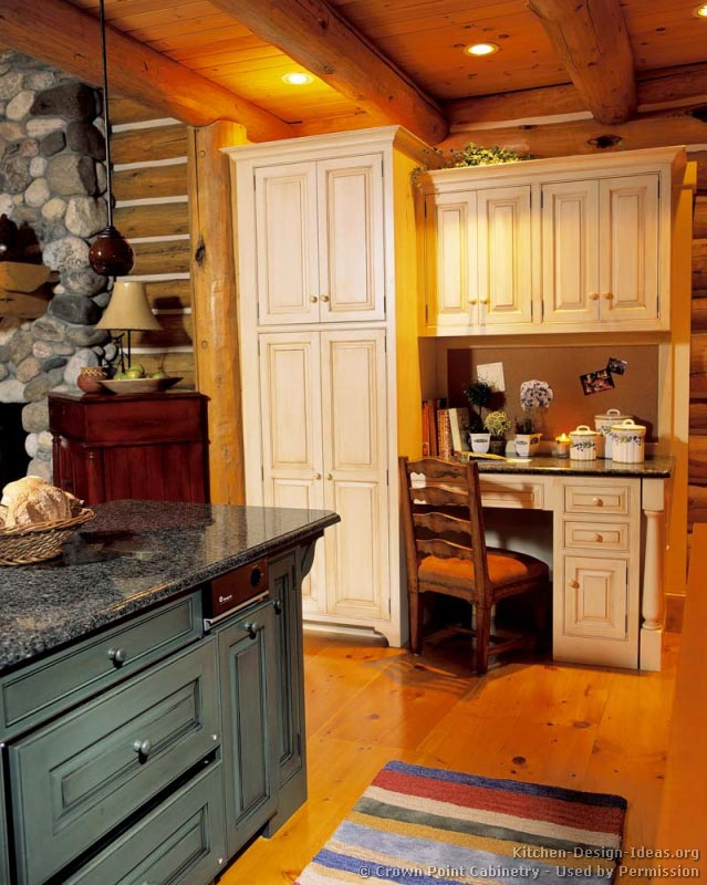 Exceptionnel 32, Log Home Kitchen