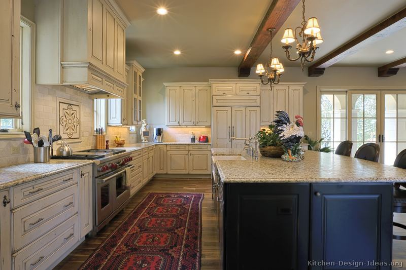 antique black kitchen cabinets. Traditional Two-Tone Kitchen Antique Black Cabinets