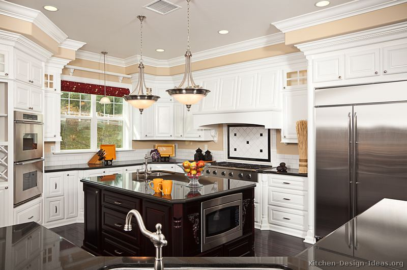 Pictures Of Kitchens Traditional Two Tone Kitchen Cabinets Kitchen 157