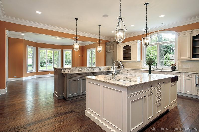 Pictures Of Kitchens Traditional Two Tone Kitchen Cabinets Kitchen 158