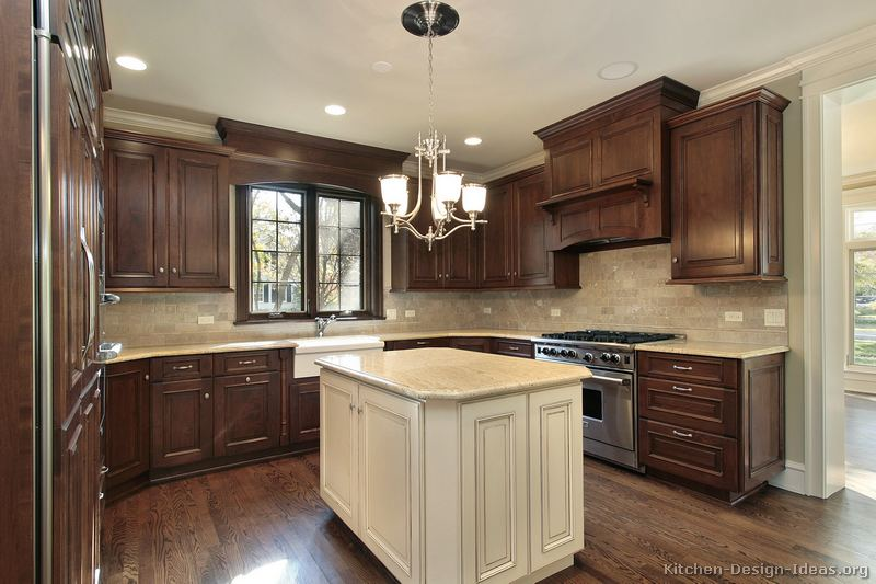 Pictures Of Kitchens Traditional Two Tone Kitchen Cabinets Kitchen 160
