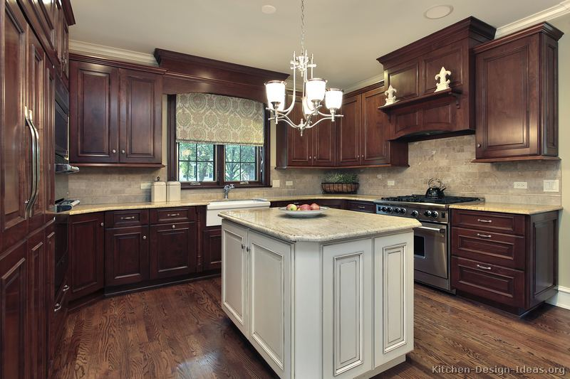 ... of Kitchens - Traditional - Two-Tone Kitchen Cabinets (Kitchen #160