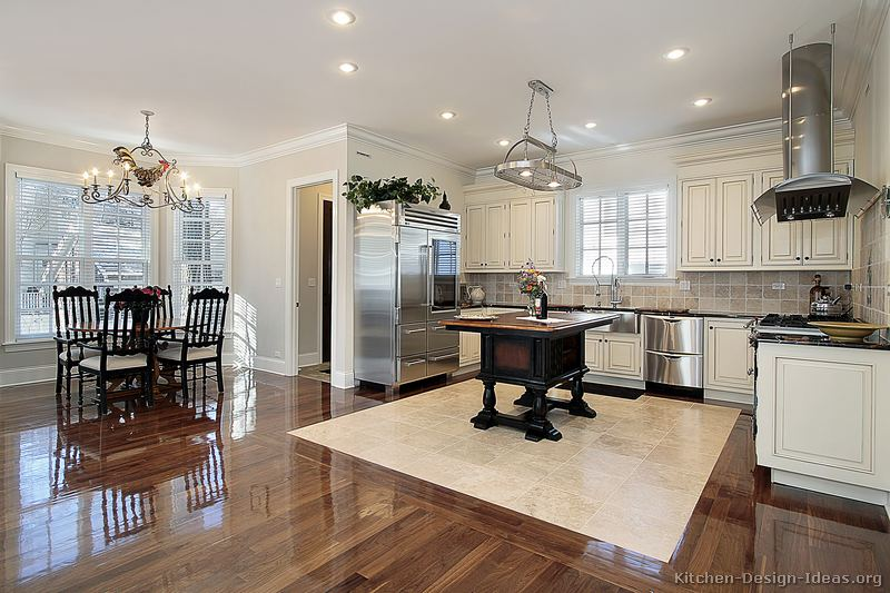 dark wood floor kitchen. Kitchens  Dark Kitchen Cabinets White Floor Quicua com