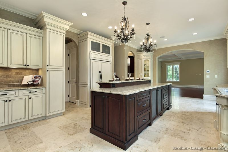 ... of Kitchens - Traditional - Two-Tone Kitchen Cabinets (Kitchen #165